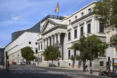 Congreso de los Diputados, Madrid, Spain - stock photo