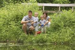Family Fishing - stock photo