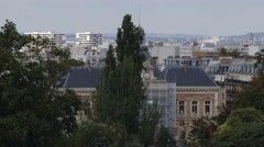 View from Parc Des Buttes Chaumont Stock Footage