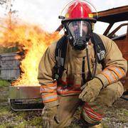 Portrait of Fire Fighter by Fire Kuvituskuvat