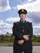 Portrait of Fire Chief Stock Photos
