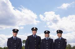 Portrait of Fire Fighters Stock Photos