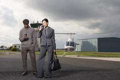 Business People at Airport Stock Photos