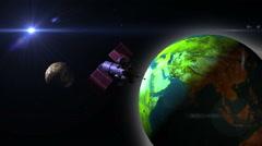 Telecommunication Satellite Stock Footage