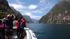 MILFORD SOUND NEW ZEALAND Stock Footage