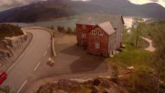 Panoramic view of a nordic house Stock Footage
