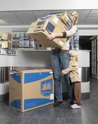 Mother and Daughter Purchasing Electronics Equipment Stock Photos