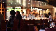 People at chic sushi bar Stock Footage