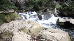 Wild waterfall in jungle slider shoot Stock Footage