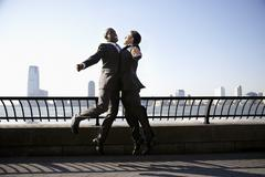 Businessmen Jumping - stock photo