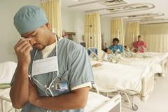 Portrait of Doctor in Hospital Ward Stock Photos