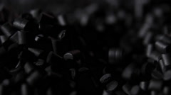 graphite pieces fall from the top - stock footage