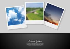 Polaroid photo abstract background Piirros
