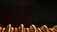Copper wire Stock Footage