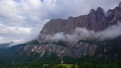 Smoky mountains, Dolomites Stock Footage