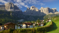 Small village in Alps Stock Footage