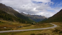 Road in Alps Stock Footage