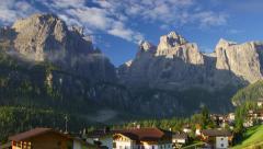 Morning in Italian village Stock Footage