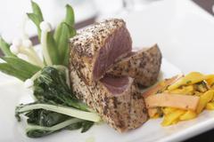 Ahi Tuna Steaks - stock photo
