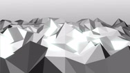 Stock Video Footage of Abstract background of motion triangles.