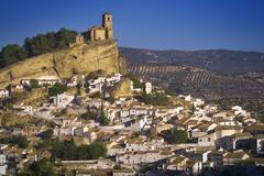 Overview of Village, Montefrio, Andalucia, Spain - stock photo