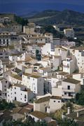 Stock Photo of Overview of Hillside Village, Casares, Andalucia, Spain