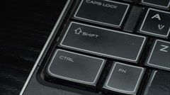 Finger Touching Ctrl Key On A Laptop, Media, Technology, Close Up Top View - stock footage