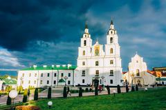 cathedral of holy spirit in minsk - the main orthodox church of belarus and s - stock photo
