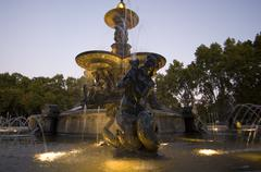 Water Fountain, Parque General San Martin, Mendoza, Argentina Stock Photos