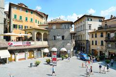 cortona old town - stock photo