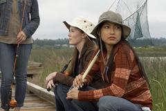 Friends Fishing - stock photo
