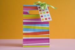 Close-Up of Gift Bag - stock photo