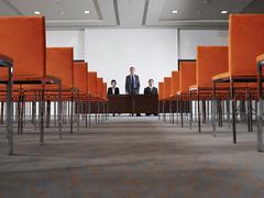 Business People in Auditorium - stock photo