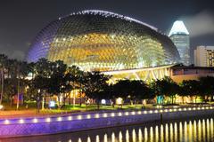 Esplanade theatres, singapore Stock Photos