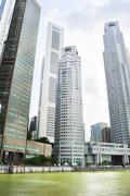 raffles place, singapore - stock photo