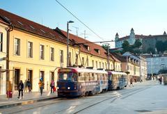 Bratislava tram Stock Photos