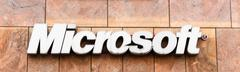 microsoft corporation headquarter. dirty sign - stock photo