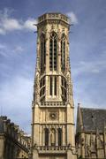 Bell Tower at Eglise St Germain l'Auxerrois, Paris, France Stock Photos