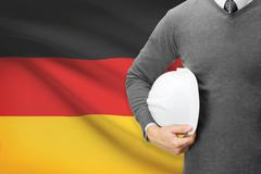 Architect with flag on background  - germany Stock Photos