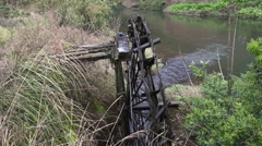 Old Water Mill slider 3393 Stock Footage