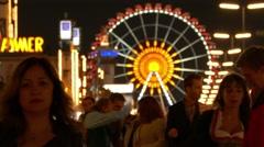 4K FHD MUNICH BEER FESTIVAL Oktoberfest Octoberfest Funfair Carnival Ferris Stock Footage