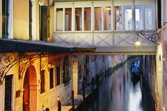 Overview of Canal, Venice, Veneto, Italy Stock Photos