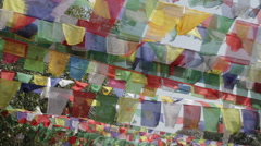 Prayer flags Blowing in the Wind v2 - Lumbini Stock Footage