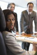 Businesswoman in Meeting Looking Nervous Stock Photos