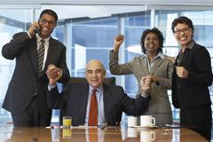 Business People Cheering Stock Photos