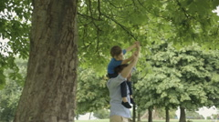 Father and son playing Stock Footage