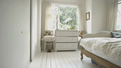 Interior of bedroom Stock Footage