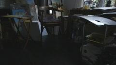 Paintings in drawing room Stock Footage