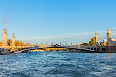 Bridge of Alexandre III in  Paris, France Stock Photos