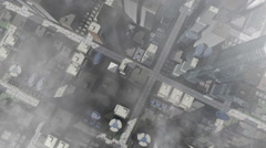 Animated city aerial view Stock Footage